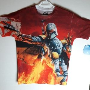 New Star Wars Boba Fett Short Sleeve Shirt…